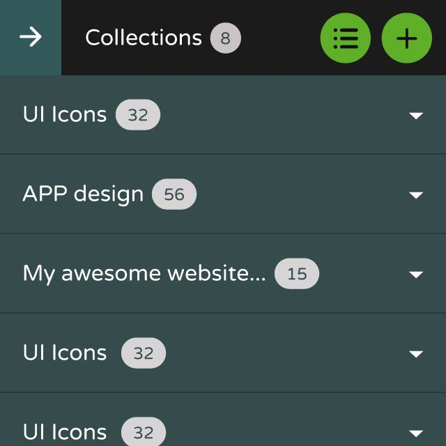 Collections list